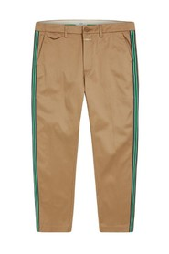 Atelier Cropped Trousers With Side Stripes