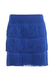 Charleston style fringed mini skirt