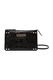 Clio Mini python effect leather pouch bag