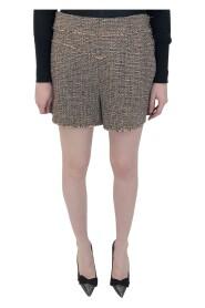 tweed raw edge shorts