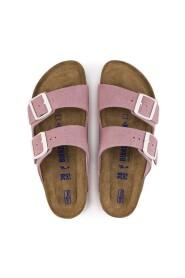Sandal rosa semsket smal lest myk fotseng