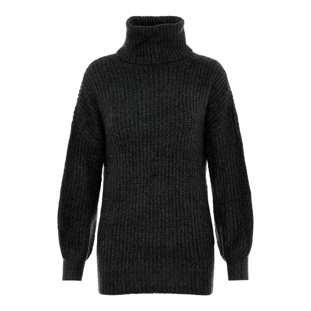 Knitted Pullover Balloon Sleeved