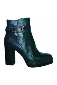 Multicolour Leather Block Ankle Boots