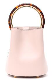 Decorative handle shoulder bag