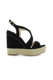 MAFAFA BLACK WEDGE SANDAL