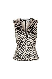 In Wear Aliciana Peplum Topp Svart Zebra