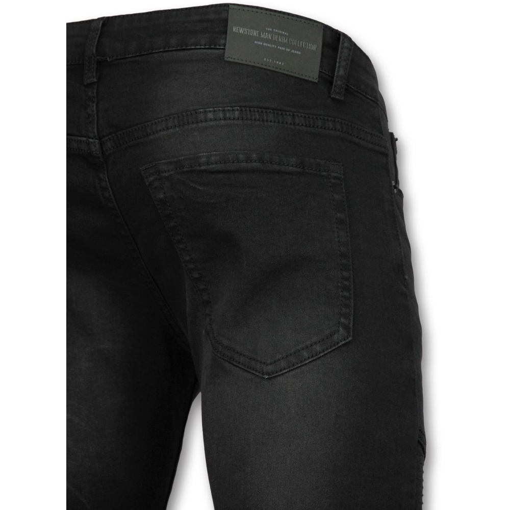 True Rise Black Slim Fit Trousers True Rise