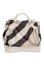 Mega Check Canvas Tote Bag