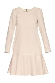 Sukienka ecru rozkloszowana