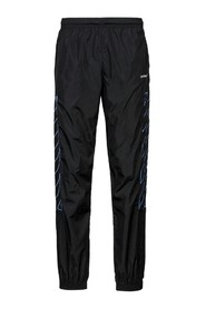 Nylon trackpants with diagonal stripes