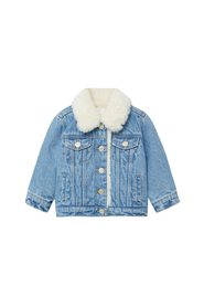 Faux-fur lining denim jacket