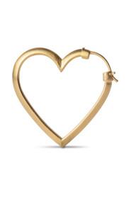 Heart of Love Ørering, forgyldt sterlingsølv