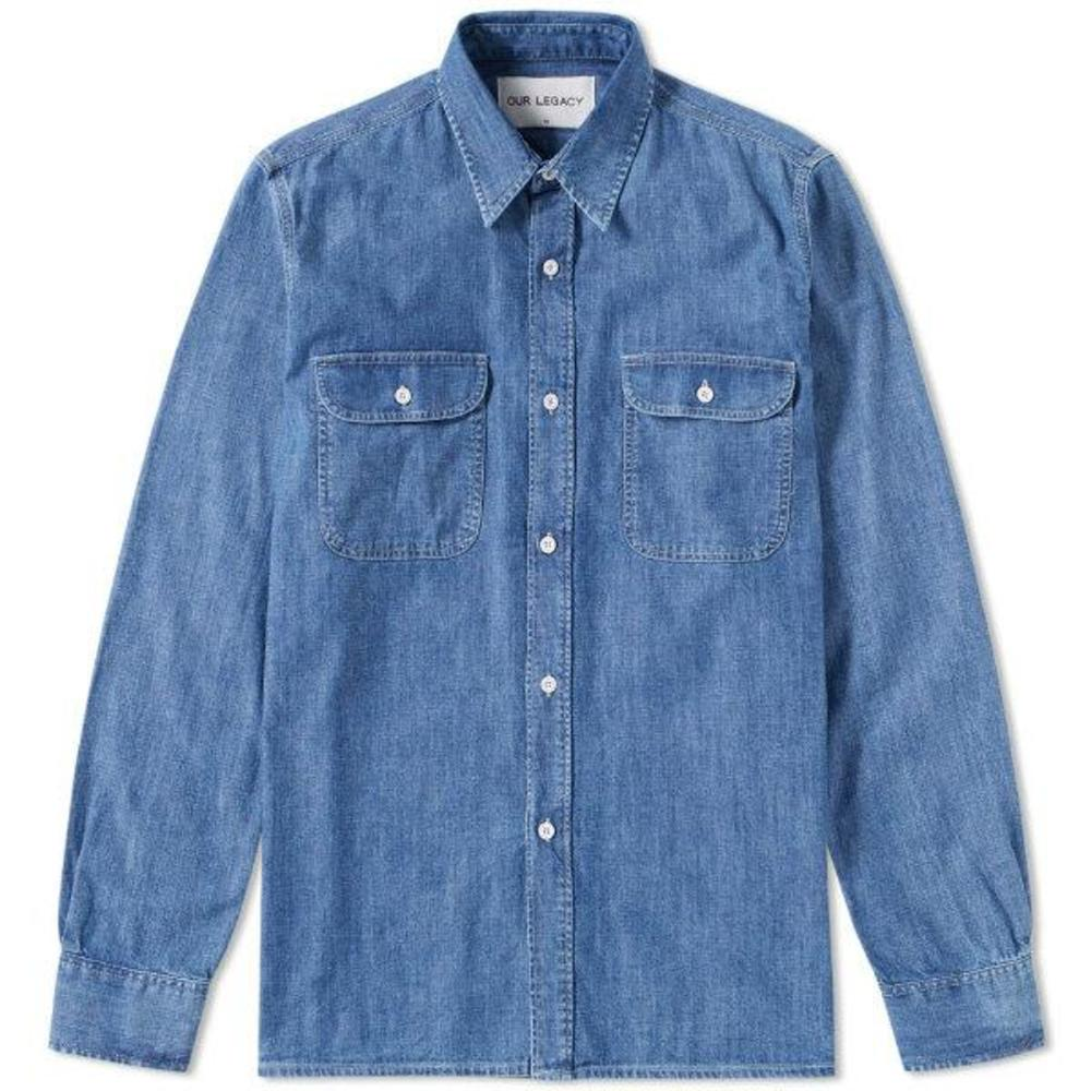 Denim shirt rinse wash