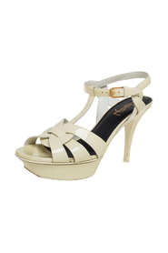 pre-owned Patent Leather Tribute Platform Sandals Size 37.5