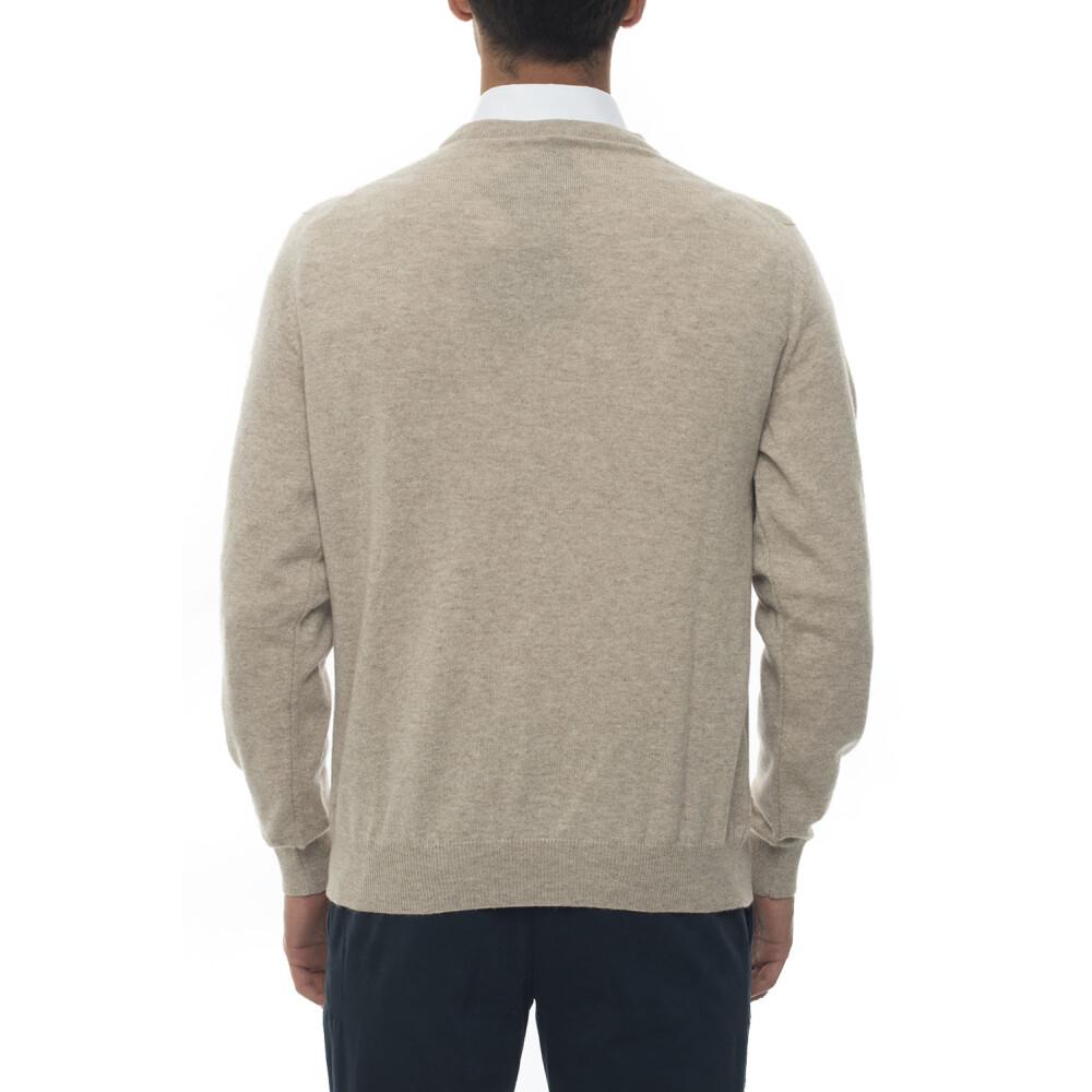 Riesige Überraschung Beige Round neck pullover Kiton Strickpullover z7Xja