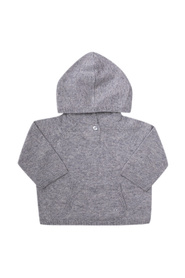 Cashmere sweater with hood