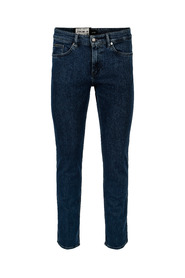 Blå Hugo Boss Delaware Mid Wash Slim-fit Jeans