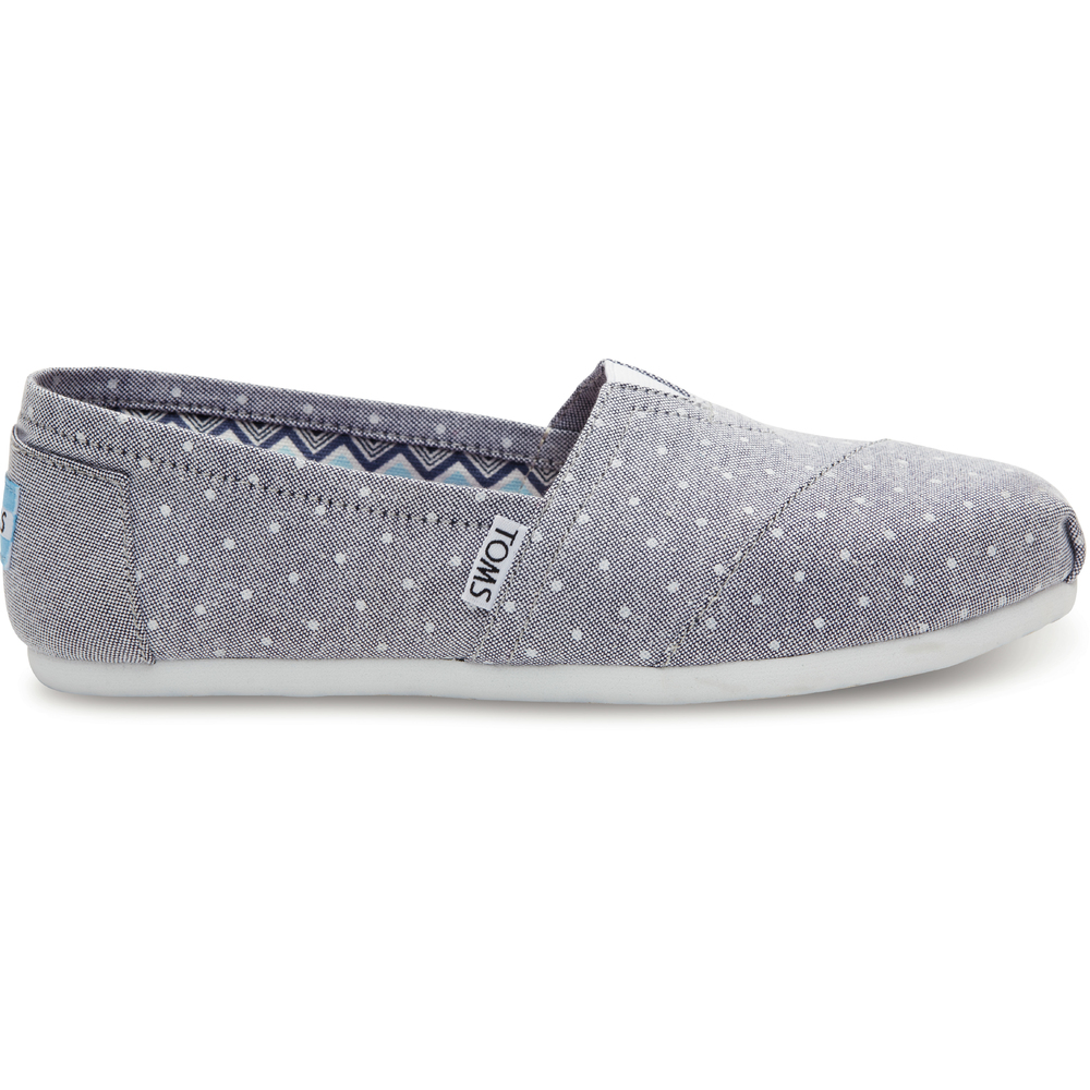 Grå Toms Classics Chambray Polka Dot Loafer