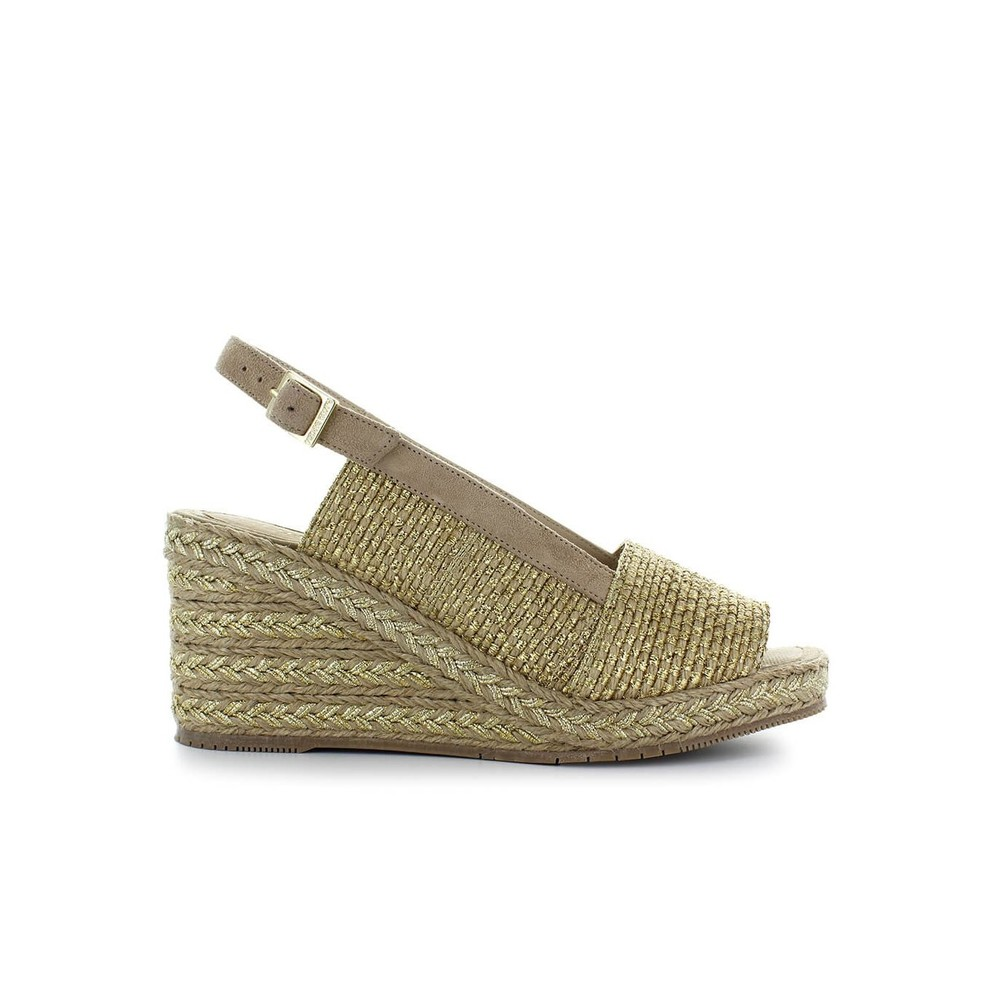 ALADIERNO GOLD WEDGE SANDAL