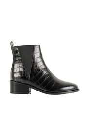 Camden croco effect leather boots