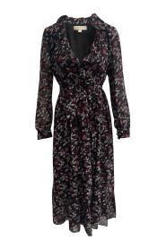 Georgette Ruffled Midi Dress