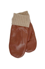 Leather Mitten With Knitted Lini Accessories
