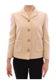 Wool Pearl Button Jacket Blazer
