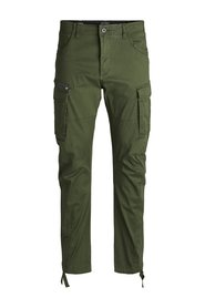 Plus size Cargo Trousers DRAKE CHOP AKM 574 FOREST NIGHT PS