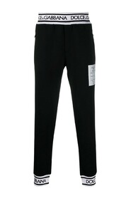 Paired fabric trousers