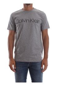 CALVIN KLEIN K10K103078 COTTON FRONT LOGO T SHIRT AND TANK Men MID GREY
