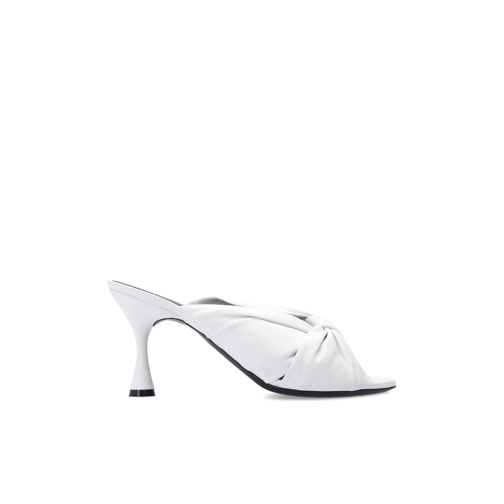 Drapy heeled mules