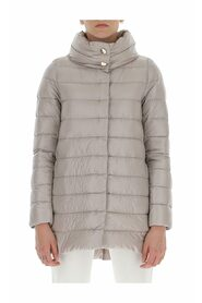 blend and feather down zipped padded coat
