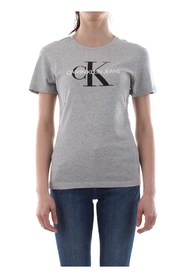 CALVIN KLEIN JEANS J20J207878 CORE MONOGRAM T SHIRT AND TANK Women GREY HEATHER