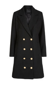 Coat buttoned