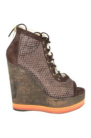 Platform Cork Wedge Booties