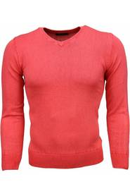 Casual Sweater - Eksklusiv Blank V-hals