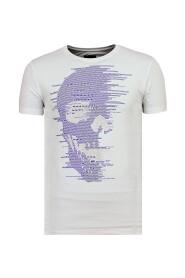 Skull Glitter - Zomer T shirt Heren