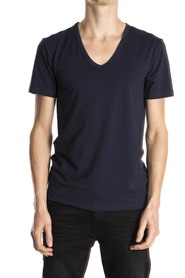 Mey T-Shirt Organic V-Neck Blue