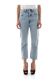 LEVIS 36200 0074 - 501 CROP L.28 JEANS Women DENIM LIGHT BLUE