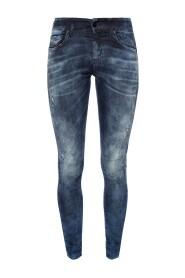 'Slandy' Jeans in Used-Optik