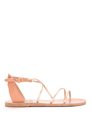 Meloivia platinum leather sandal