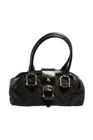 Pre-owned Quilted Nylon and Patent Leather Satchel