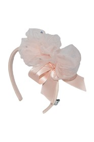 Pink Headband with Tulle and Crystals