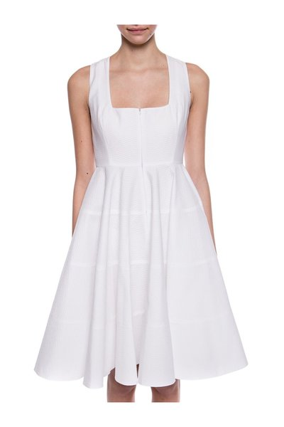 White Flared Dress Alaia Hverdagskjoler