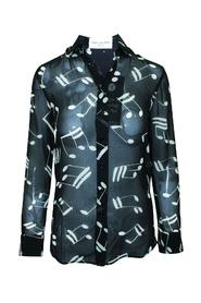 Music Note Printed Shirt -Pre Owned Condition Very Good