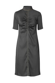 Hana Solid Sheen Cady Dress
