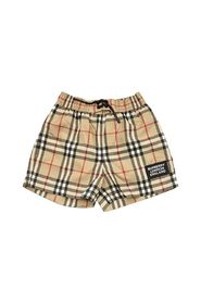 KAMERON - Logo Appliqué Vintage Check Swim Shorts