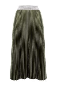 Longuette skirt with glitter band-waist
