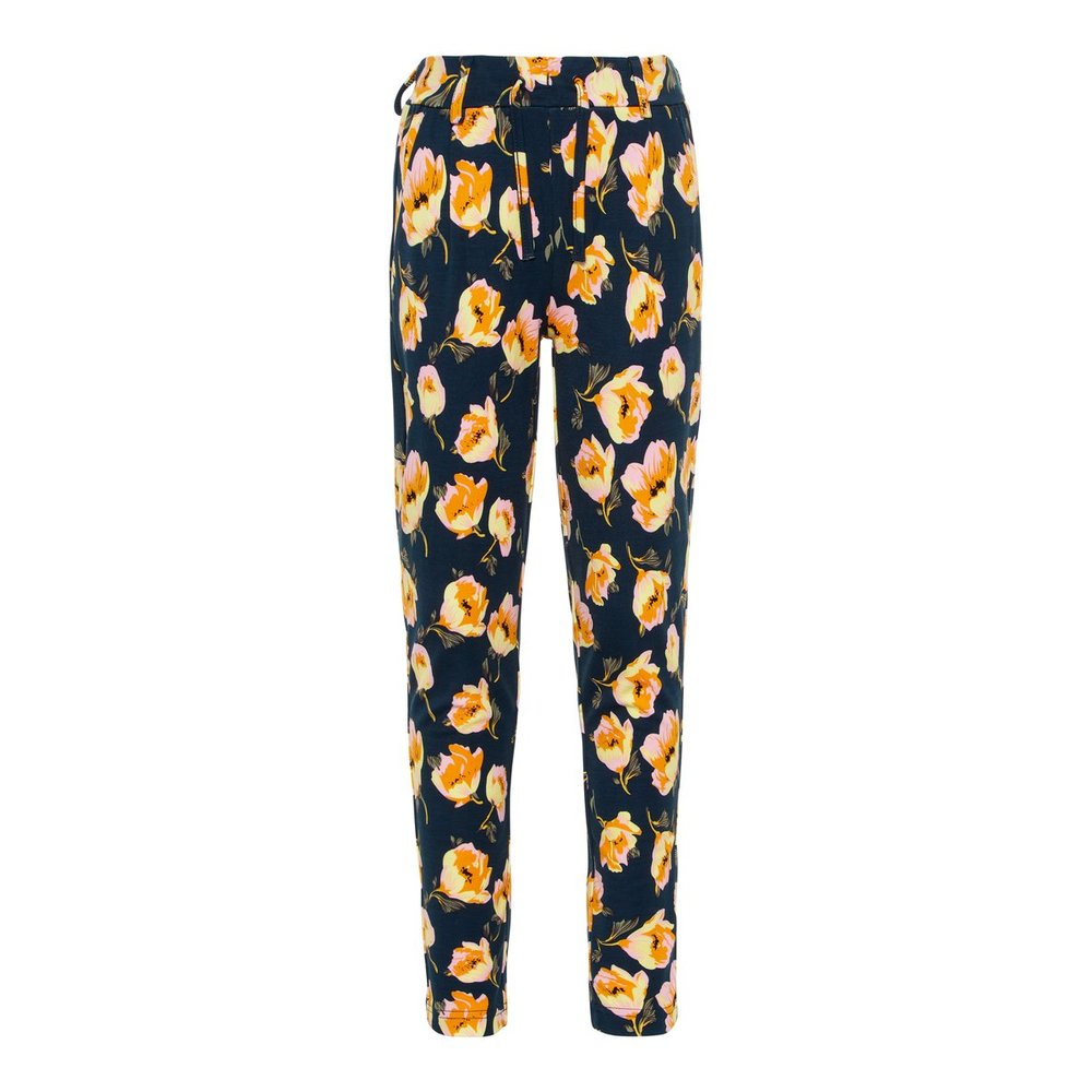 Trousers floral printed drawstring