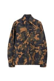 Camouflage Seersucker overshirt jakke